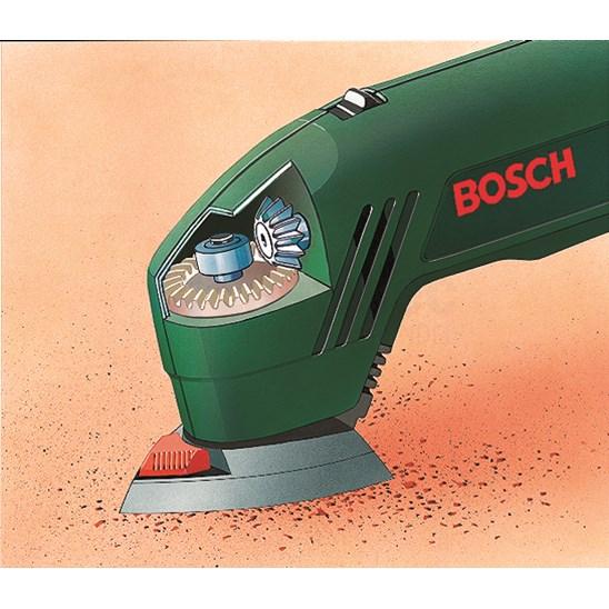 Bosch Deltaschuurmachine PDA 180 (3 schuurbladen (1x Red Wood, 1x White Paint en 1x Black Stone))