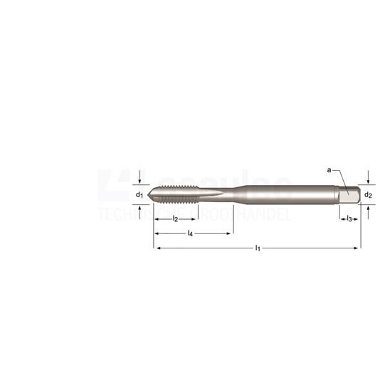 Dormer UNC Hand-/machinetap HSS-E, met rechte spaangroeven