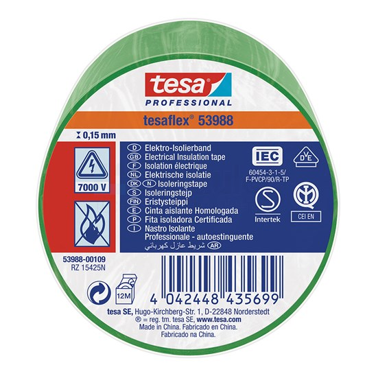 Tesa 53988 Isolatietape 15mm x 10mm groen