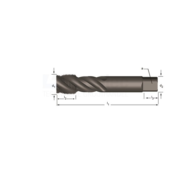 Dormer G(BSP) Machinetap  HSS-E stoomontlaten, voor blinde gaten, volgens ISO