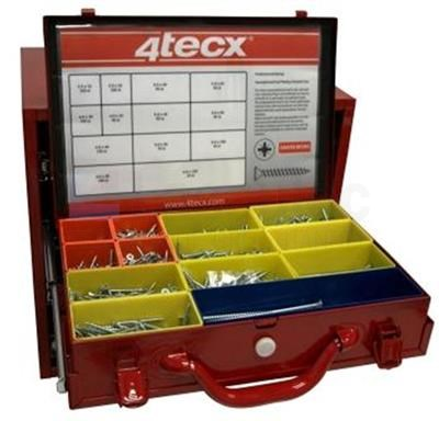 4Tecx binnenzeskantbouten DIN912 Assortimentskoffer