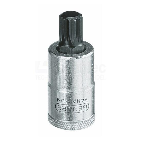 """Gedore INX 19 Dopsleutel-schroevendraaier 1/2"""" tbv binnentwaalfkant-schroeven XZN"""