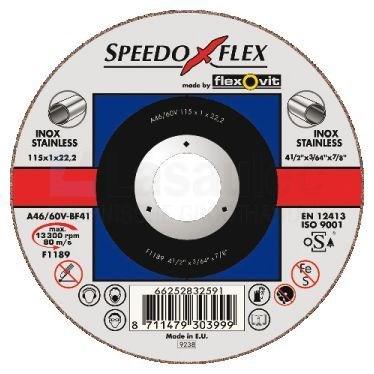 Speedoflex A30/46V-BF41INOX Doorslijpschijf