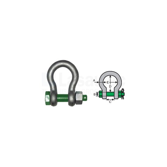 Green Pin G4163-1/2 Harpsluiting