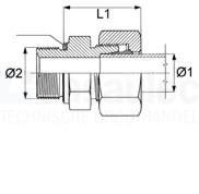 1013-12LMDE16 Inschroefkoppeling