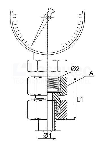 1019-06LR Manometerkoppeling